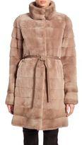 The Fur Salon Belted Mink Fur Coat