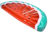 Lanlan Inflatable Floating Row Creative Half Watermelon Shaped Air Sofa Bed Recliner for Beach Swimming Pool Seaside