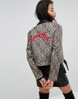 Morgan Collard Back Detail Jacquard Jacket