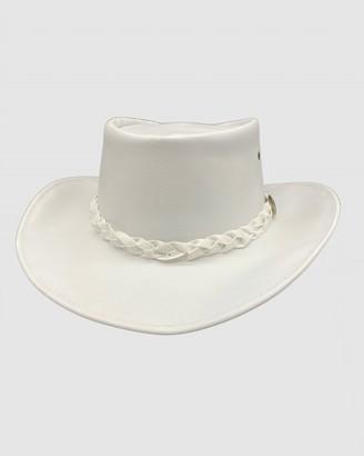 Jacaru - White Hats - Jacaru 1001P Premium Kangaroo Leather Hat - Size One Size, XL at The Iconic