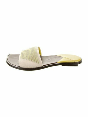 Bottega Veneta Beaded Slide Sandals Beige