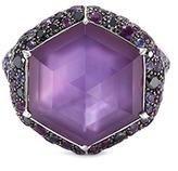 Stephen Webster Crystal Haze diamond sapphire 18k white gold hexagon small ring