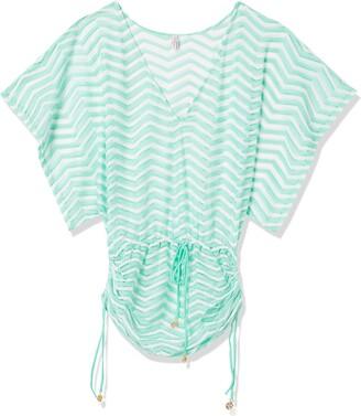 Luli Fama Women's EL Malecon Cabana V-Neck Dress Cover up Swimwear