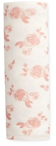Aden and Anais Girls' Rose Print Snuggle Knit Swaddle Blanket - Baby