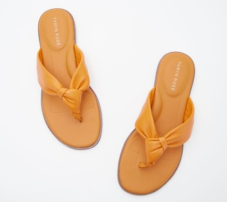 Taryn Rose Leather Knotted Thong Sandals - Karissa