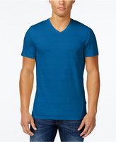 Calvin Klein Men's V-Neck Textured Stripe T-Shirt