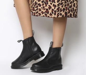 Dr. Martens 2976 Zip Chelsea Boots Black