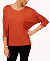 Eileen Fisher Stretch Jersey Round-Neck Top, Regular and Petite
