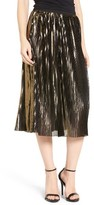 Women's Trouve Shine Pleat Midi Skirt