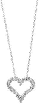 Effy Pave Classica By Diamond (1/2 ct. t.w.) Pendant in 14k White Gold