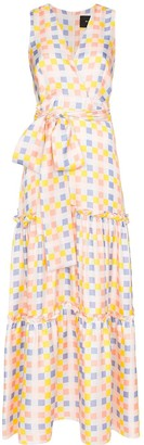 Paper London Check-Print Maxi Dress