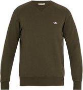 MAISON KITSUNÉ Crew-neck cotton-jersey sweatshirt