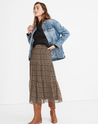 Madewell (Re)sourced Georgette Tiered Maxi Skirt in Folktale Paisley