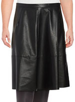 Lord & Taylor Plus Faux Leather A-Line Skirt