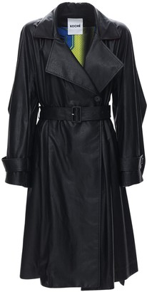 Koché Faux Leather Trench Coat
