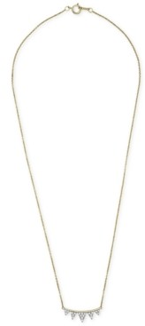 "Wrapped Diamond Triangle 18"" Pendant Necklace (1/4 ct. t.w.) in 14k Gold, Created for Macy's"