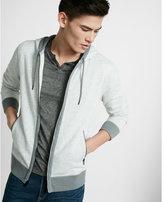 Express color block fleece zip-up hoodie