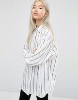 Weekday Oversized Pinstripe Shirt