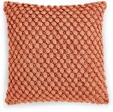 "Hotel Collection Textured Lattice Linen 16"" Square Decorative Pillow"