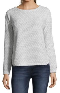 John Paul Richard Petite Metallic Pullover Sweater