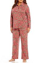 Lauren Ralph Lauren Plus Paisley Jersey Classic Pajamas