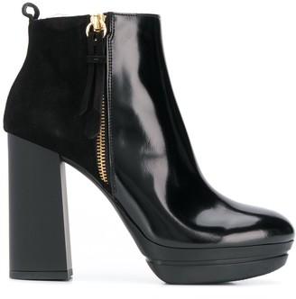 Hogan Platform Ankle Boots