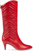 Gucci Matelassé mid-heel boot