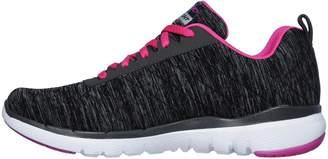 Skechers Wide Fit Flex Appeal 3.0 Insiders Trainers - Black/Pink