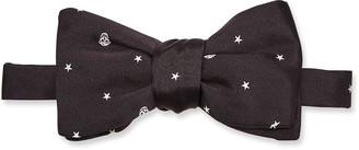 Alexander McQueen Men's Wool Stars/Skulls Bow Tie