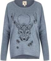 Yumi Deer Print Jumper