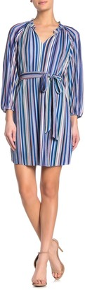 Collective Concepts Striped Long Sleeve Mini Dress