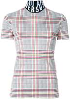 Versus checked logo-band top
