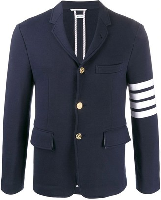 Thom Browne 4-bar Classic Unconstructed Jacket Navy