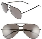 Marc Jacobs Women's 59Mm Gradient Polarized Aviator Sunglasses - Black/ Polar