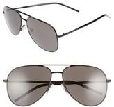 Marc Jacobs Women's 59Mm Gradient Polarized Aviator Sunglasses - Black/ Polar