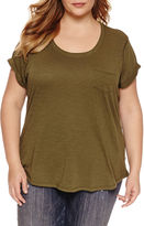 A.N.A a.n.a Short Sleeve Round Neck T-Shirt-Plus