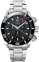 Edox Men's 10020 3M NIN Chronoffshore Analog Display Swiss Quartz Silver Watch
