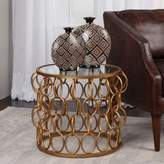 Uttermost Dipali Accent Table in Gold Leaf