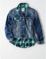 Aeo Atelier & Repairs X AE Flannel & Denim Jacket