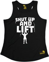 Sex Weights and Protein Shakes Premium SWPS Premium - Shut Up And Lift (L - ) GIRLIE PERFORMANCE TRAINING COOL VEST