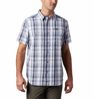 Columbia Men's Brentyn Trail Short Sleeve Seersucker Shirt 100% Cotton