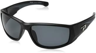 Pepper's Peppers Big Horn Polarized Oval Sunglasses Matte Black 64 mm