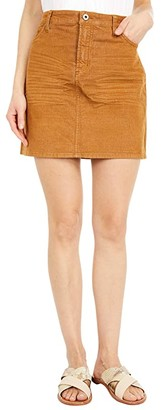 Carve Designs Carson Cord Skirt (Caramel) Women's Skirt