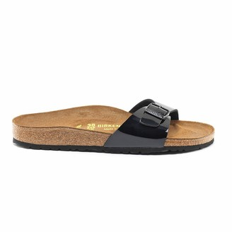 Birkenstock Madrid Patent Faux Leather Sliders