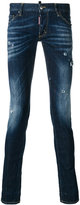 DSQUARED2 distressed Long Clement jeans - men - Cotton/Polyester/Spandex/Elastane - 44