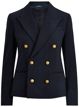 Polo Ralph Lauren Double-Breasted Wool-Blend Blazer