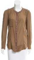Etoile Isabel Marant Embroidered Button-Up Top w/ Tags