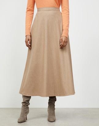 Lafayette 148 New York Petite Finite Italian Flannel Sumner Skirt
