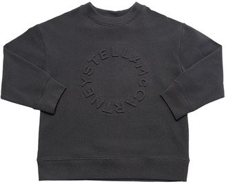 Stella McCartney Kids Embossed Logo Organic Cotton Sweatshirt