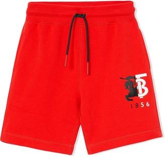 Burberry contrast logo shorts